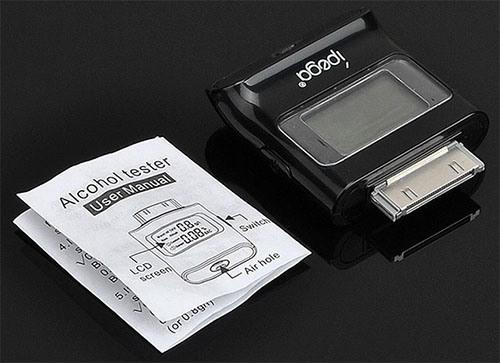 Алкотестер IPEGA для iPhone 4/4S/iPad/iPod поставляется поставляется вместе с инструкцией