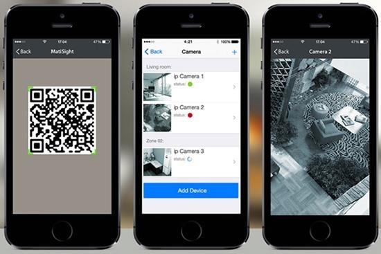 """IP-камера """"MatiSight HD"""" управляется с помощью планшета/смартфона на базе системы """"iOS"""" или """"Android"""""""
