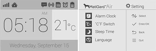 """Устанавливать зоны охраны системы """"MatiGard Air"""" удобнее всего посредством экранного меню (увеличение по клику)"""