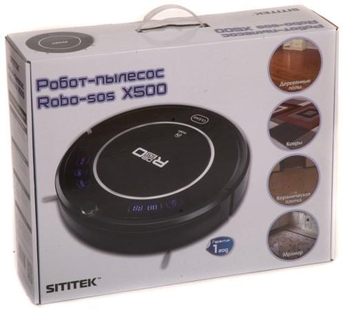 """Фирменная упаковка имеет ручку, что позволяет удобно перенести робот-пылесос """"Robo-sos X500"""""""