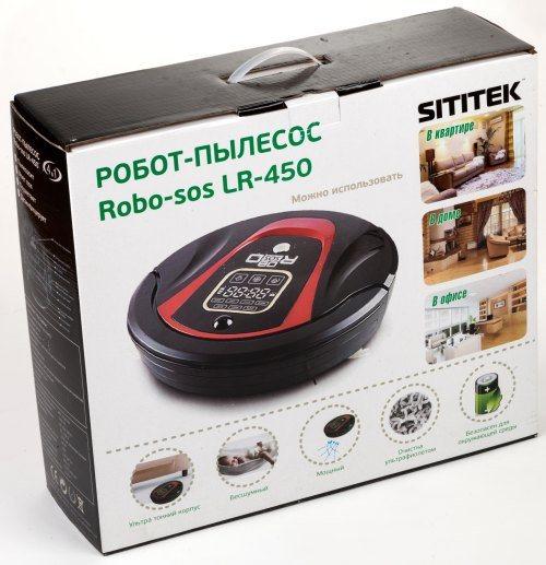 """Робот-пылесос """"Robo-sos LR-450"""" официально поставляется на российский рынок, о чем свидетельствуют надписи на упаковке, выполненные на русском языке"""