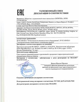 """Сертификат соответствия на видеоглазок SITITEK """"Simple"""""""