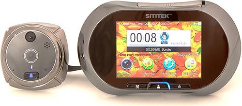 """Наружный и внутренний модули  видеоглазка """"SITITEK GSM"""" (нажмите, чтобы увеличить)"""