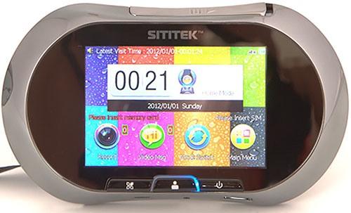 """Внутренний модуль видеоглазка """"SITITEK GSM"""" оборудован сенсорным ЖК-экраном размером 3,5"""" (8,9 см) по диагонали"""