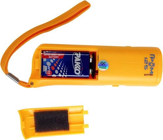 """Батарейный отсек ультразвукового отпугивателя """"Sititek Гром-125"""", в который установлена батарейка """"Крона"""" (6F22)"""