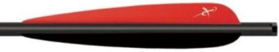 Стрела оборудована классическим двухцветным оперением
