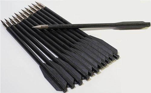 Стрелы для арбалета-пистолета имеют длину 6,5