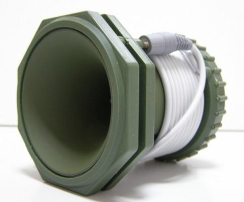 """Корпус звукового модуля """"Егерь 2"""" удобно использовать в качестве катушки для звукового кабеля"""