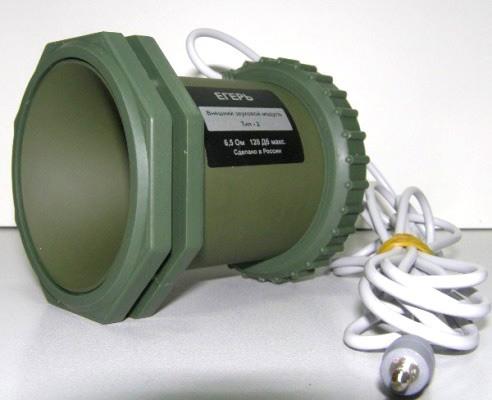 """Звуковой модуль """"Егерь 2"""" для маскировки выполнен в зеленом цвете"""