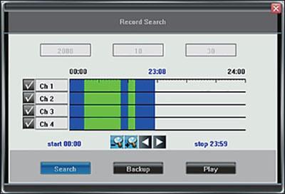 Окно программы для управления видеокомплектом