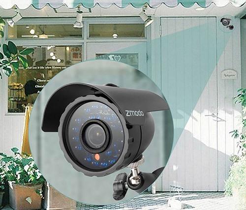 """Камеры видеокомплекта """"Zmodo Улица"""" имеют металлические корпуса и отлично защищены от непогоды (нажмите на изображение, чтобы увеличить)"""
