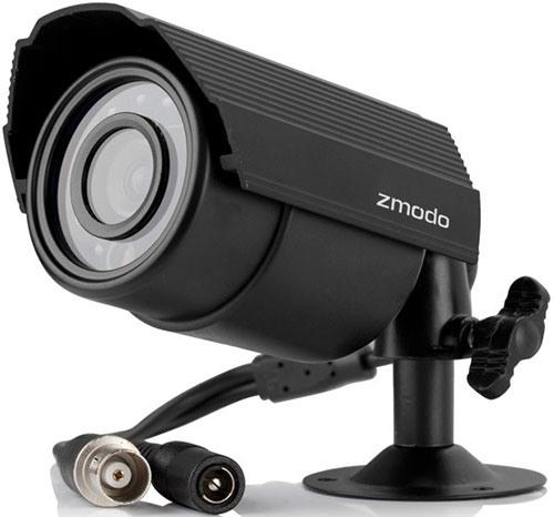 """Камеры из видеокомплекта """"Zmodo Улица"""" соединяются с регистратором посредством видеокабеля, что обеспечивает высокую надежность связи"""